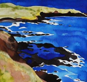Australian Ultramarine Storm Bay Ink and Watercolour