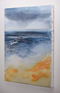 Dawn Sea, Watercolour & Pen on Canvas, left side