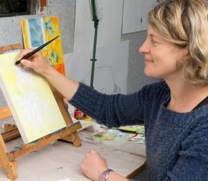 Katy Hood Artist closeup