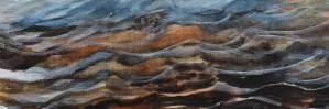 "Katy Hood Art: Watercolour ""Dawn: Peaceful Wavelets"", detail"