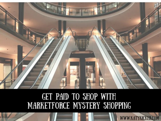 Get paid to shop with Marketforce mystery shopping