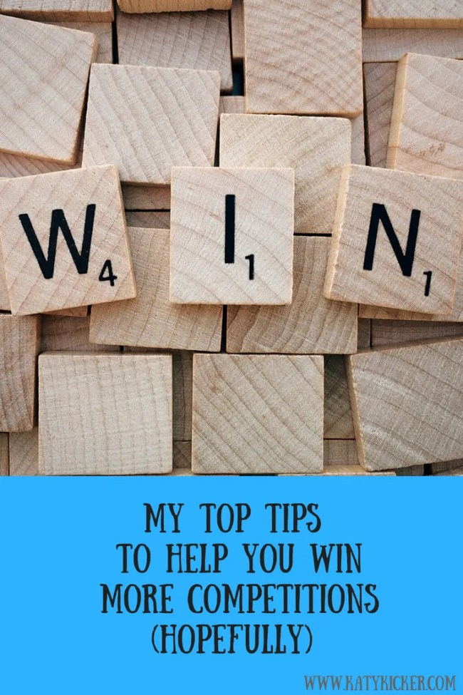 My top tips for entering competitions - hopefully winning them too!