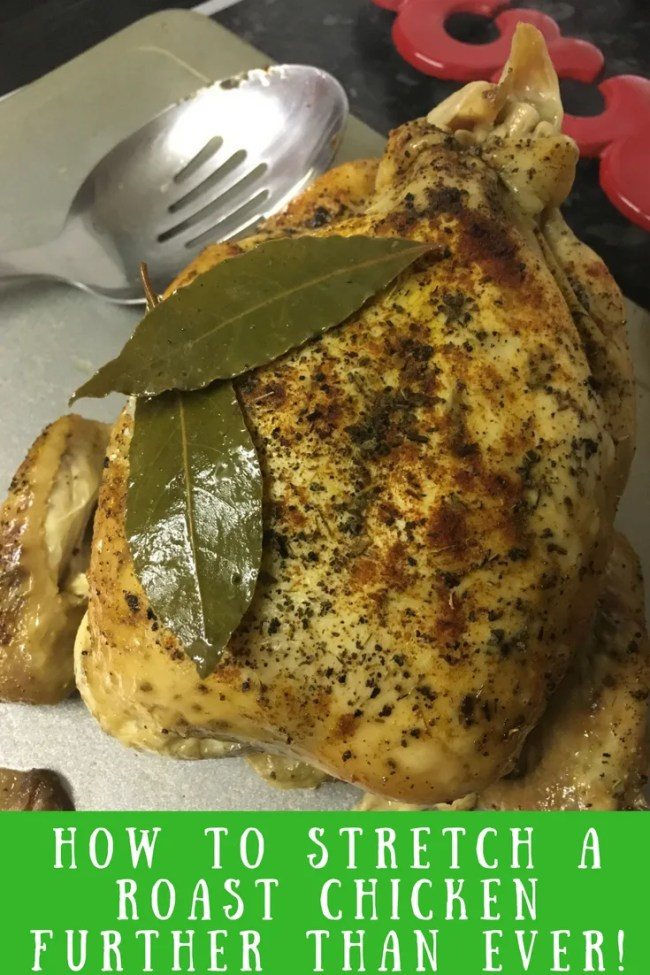 Stretch a roast chicken further than ever with my rubber roast chicken guide. Find out how I make a chicken stretch across 3 or even more meals. Frugal recipes, frugality