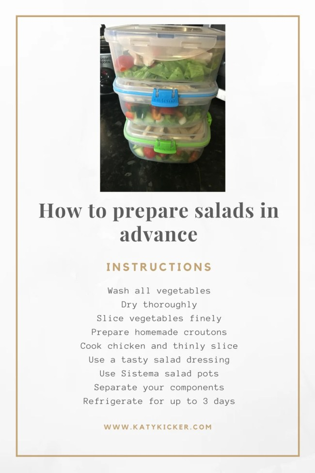 Everything that you need to know to help you prepare salads in advance with ease - and without them going soggy!
