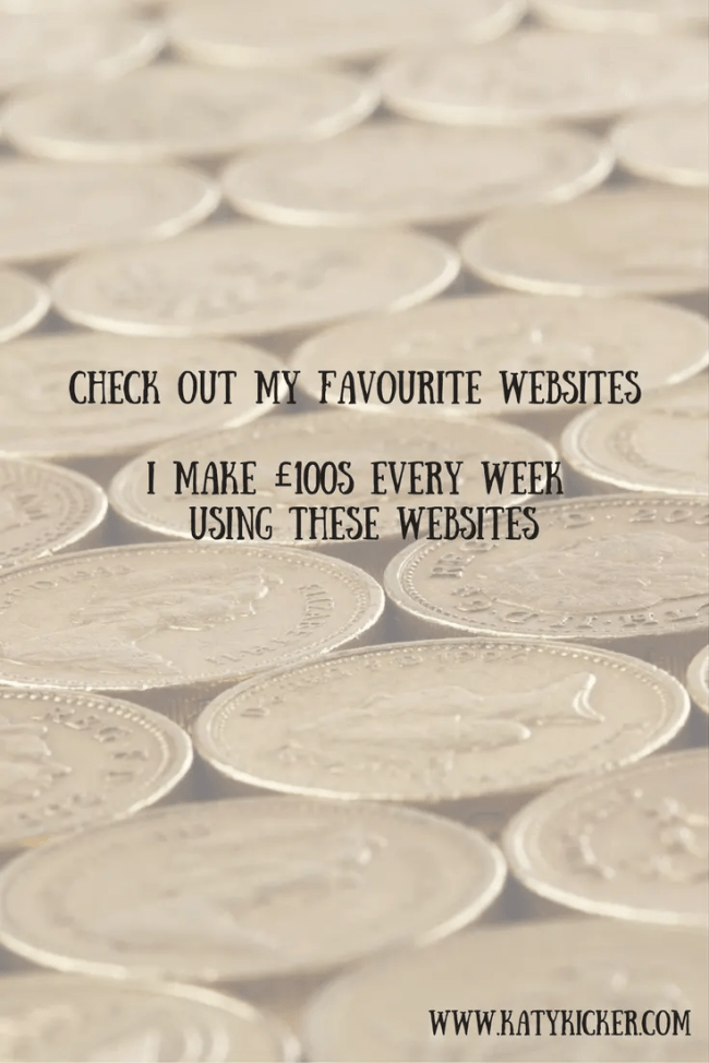 Check out my favourite websites - Great ways to make money online