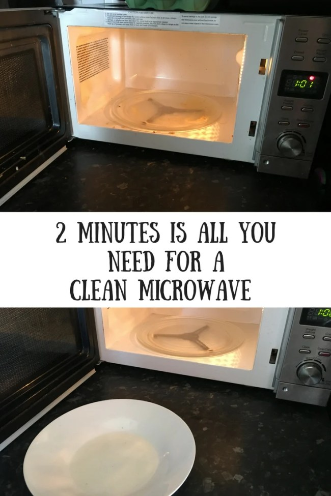 2 minutes is all you need for a clean microwave