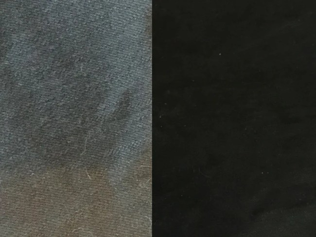 Dylon fabric dye - before and after