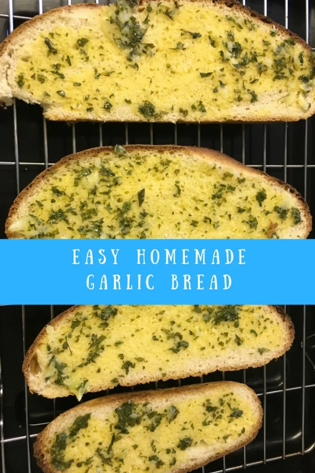 Easy homemade garlic bread. Garlic butter ready in seconds. Garlic croutons, garlic bread, garlic toast, garlic naans