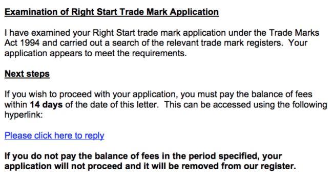 How to trademark a blog name - Right start acceptance