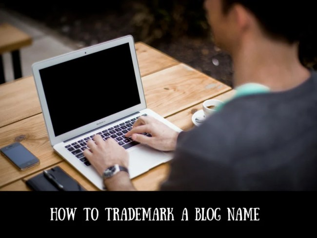 How to trademark a blog name