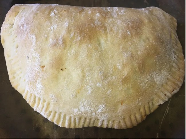 Easy calzone recipe - a look at my finished calzone