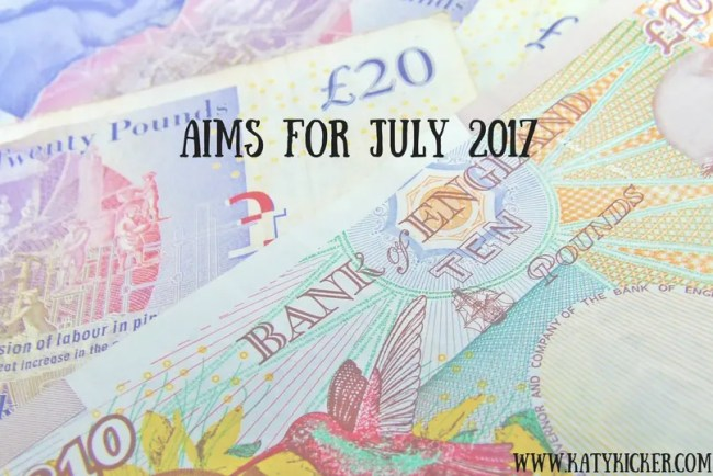 Find out more about my Aims for July 2017