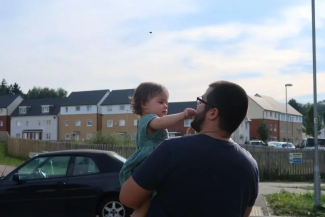 5 years time - Daddy and Daisy