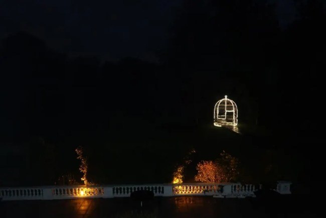 Manor of Groves - The view from our bedroom at night