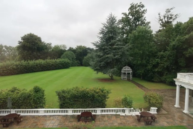 Manor of Groves - the view from our bedroom