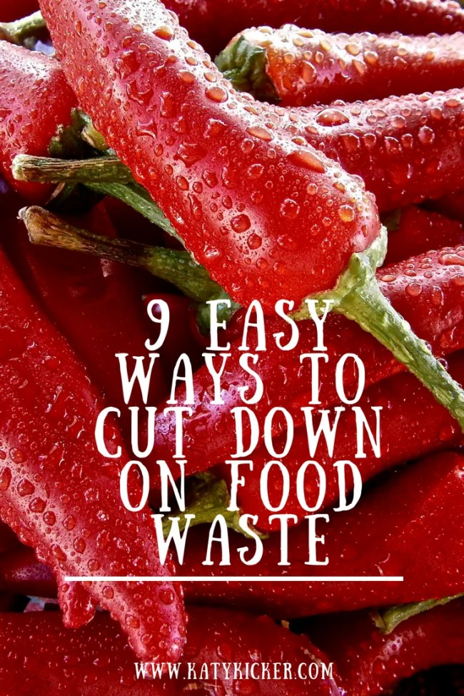 9 easy ways to cut down on food waste. Money saving, frugal living, food waste, eco living, thrifty, love food hate waste, love your leftovers