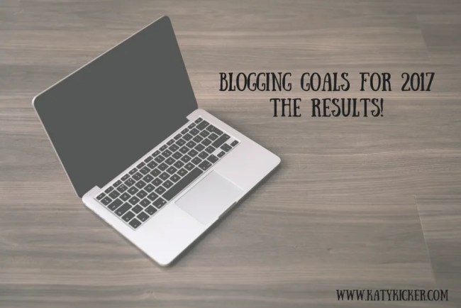 Blogging goals for 2017 - the results