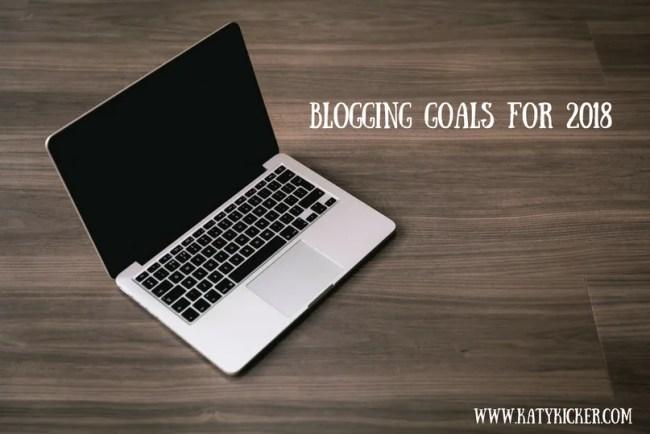 Blogging goals for 2018