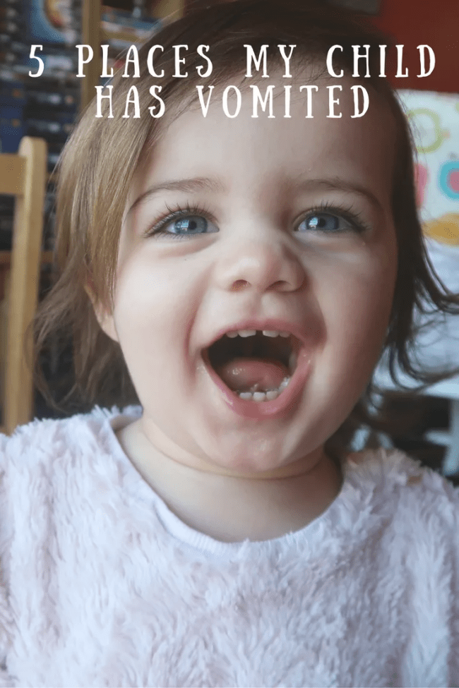 5 places my child has vomited. FPIES, Allergies, CMPA