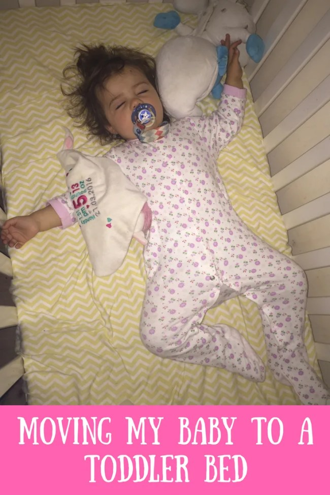Moving my baby to a toddler bed. Find out how it went when we moved our toddler to her own bed, from a cot