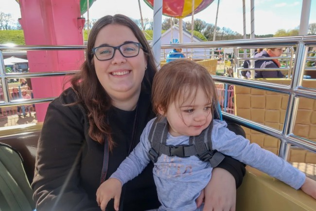 A family trip to Peppa Pig World - Balloon rides