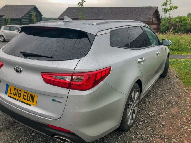 Back view of the Kia Optima Sportswagon