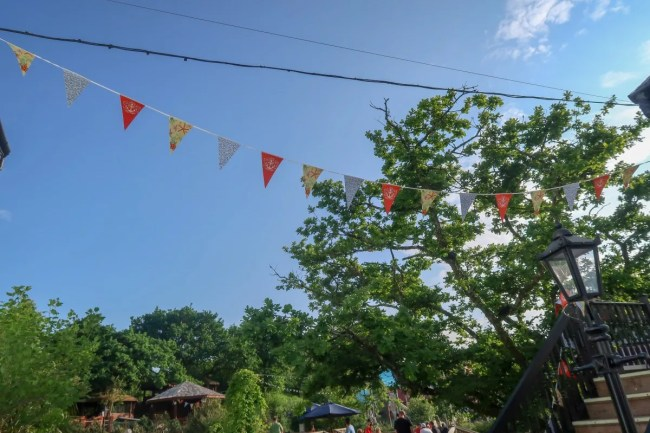 Bluestone Wales - bunting in the village