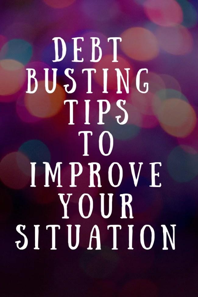 (AD) Debt busting tips to improve your situation #money #finances #personalfinance #debt #debttips #tips #moneysaving