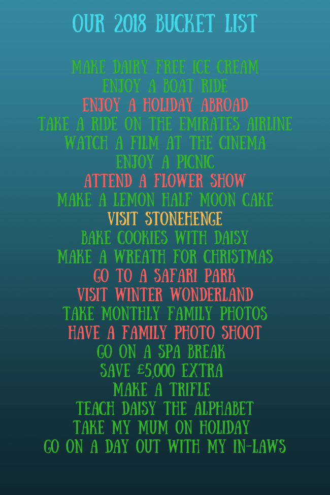 Our final 2018 Bucket list update - take a look at what we completed as a family in 2018. Bucket list ideas, holiday ideas, makes and bakes