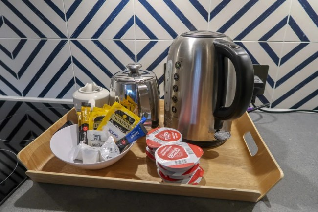 Centerparcs Waterside Lodge Review - Tea and coffee
