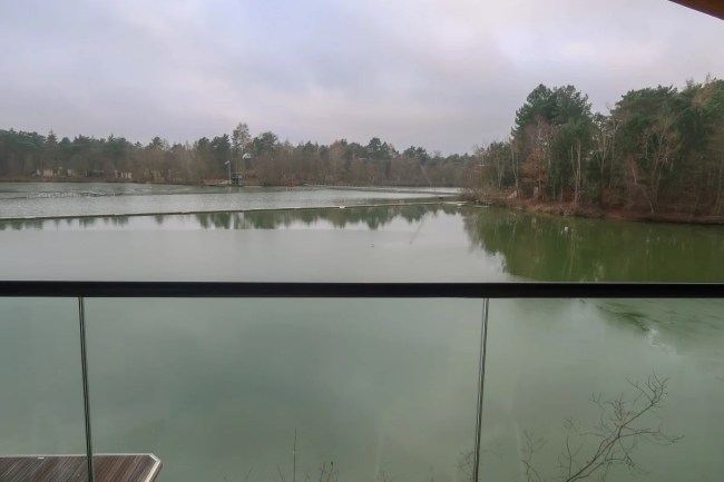 Centerparcs Waterside Lodge Review - View over the water from upstairs