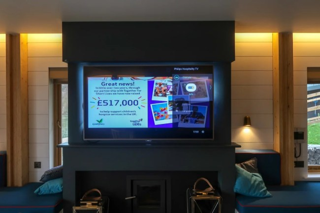 Centerparcs Waterside Lodge Review - a look at the huge television