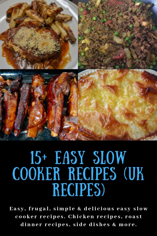15+ Easy slow cooker recipes (UK recipes) #slowcooker #frugalrecipes #easyrecipes #slowcookerrecipes #simplerecipes