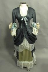 1882 English dinner dress costume