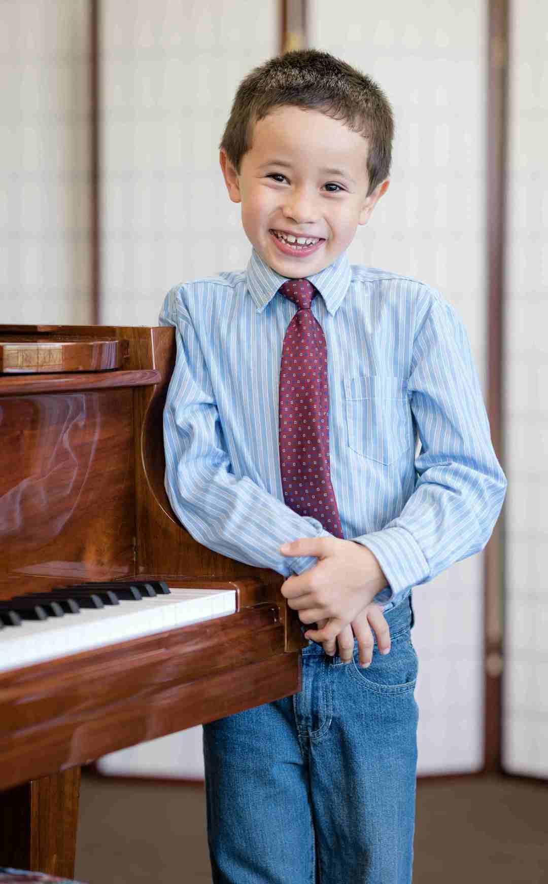 Happy piano student at The Conservatory of Music at North Katy
