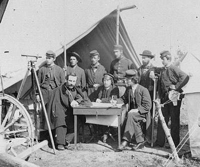 Civil War-Cartographic engineers Camp Winfield Scott