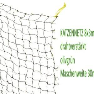 Katzenschutznetz 8x3m