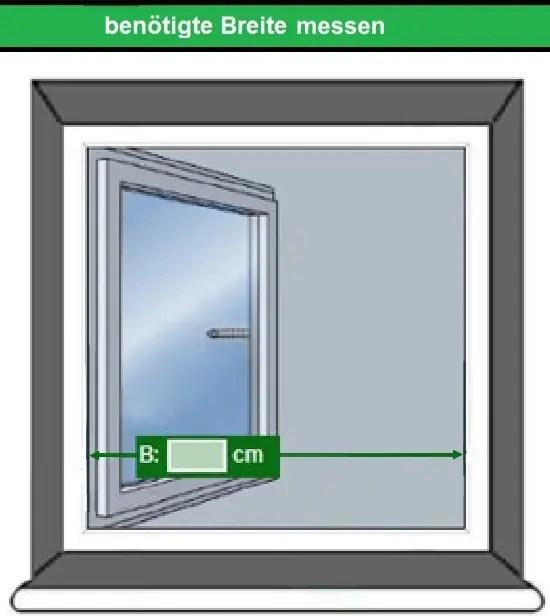 lichte Breite Fensternetz messen