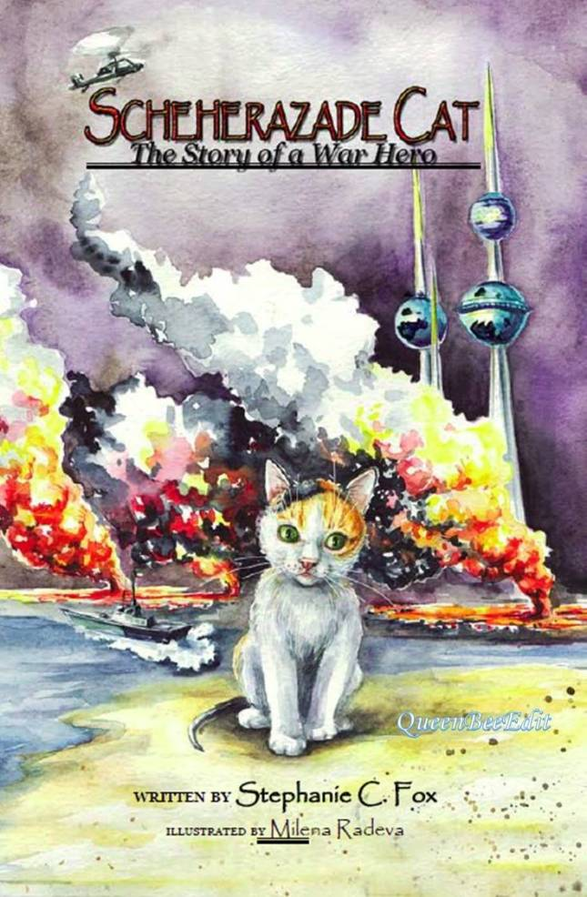 Scheherazade Cat - The Story of a War Hero - Cover Art - QueenBeeEdit Watermark