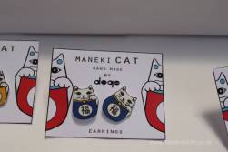 I'm not sure if there were pins or earnings but they were rather cute