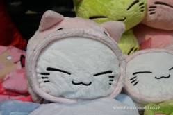 I never seen a cat be so happy to be dressed as pig.