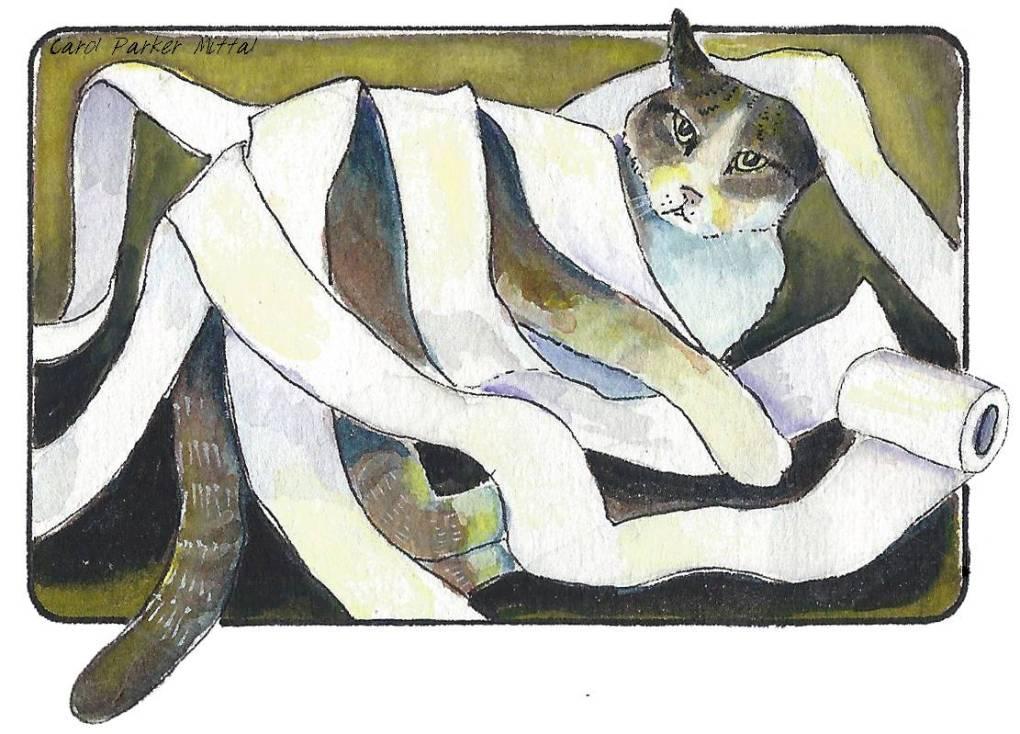 Watercolor and Pen; Carol Parker Mittal