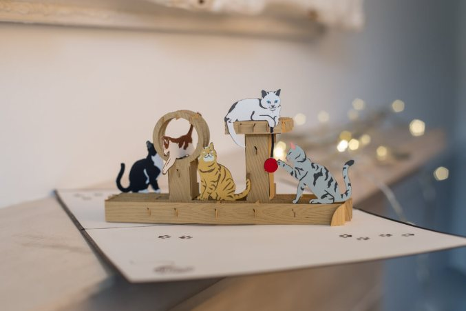 Cats-Playing-Pop-Up-Card