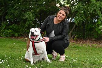Missi with her owner Gemma, from Wolverhampton, are taking on PDSA's Pet Fit Club. She needs to lose 3 STONE!