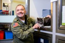 Bob Mortimer and DJ Loveham at Cats Protection NCAC - credit McCrickard Photography