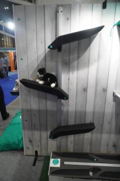 solid yet not too hard ledges for cats to get up on
