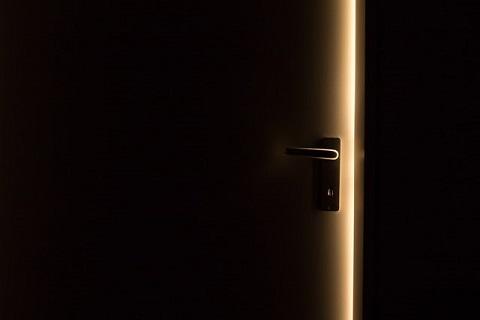 a slightly open door
