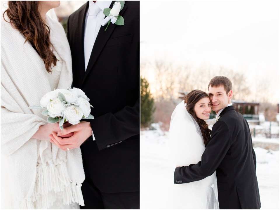 Catholic Winter Wedding in Plymouth Minnesota, Ss. Peter and Paul Loretto | Photo by Katzie and Ben Photography