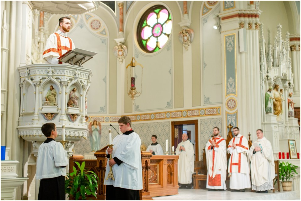 First mass of thanksgiving for Fr. Brandon Guenther at Ss. Peter and Paul in Independence, WI for the diocese of La Crosse