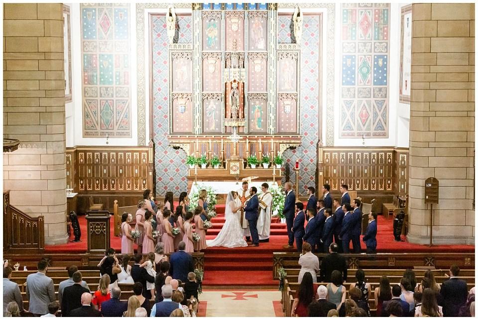 Catholic wedding at Church of St. Mark's in St. Paul, Minnesota